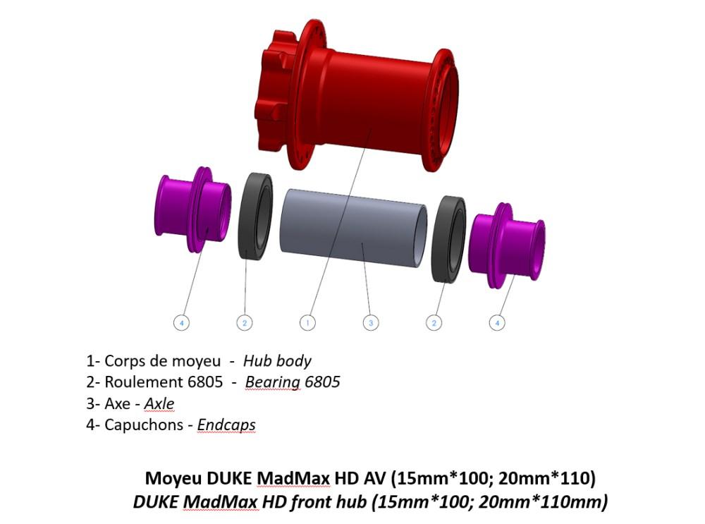 Moyeu DUKE MadMax HD AV