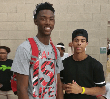 Derryck Thornton with Duke target Harry Giles courtesy of Tank Thornton.