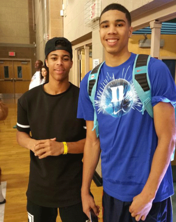 Derryck Thornton with Commit Jayson Tatum courtesy of Tank Thornton.