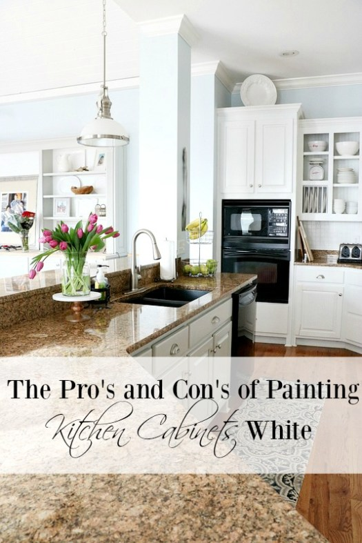 Pros And Cons Of Painting Kitchen Cabinets White
