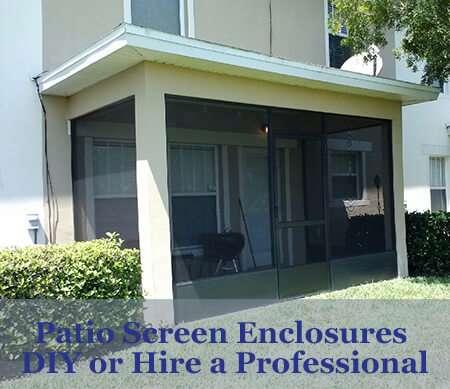 diy patio screen enclosures or hire a