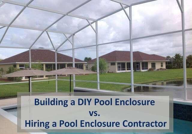 building a diy pool enclosure vs