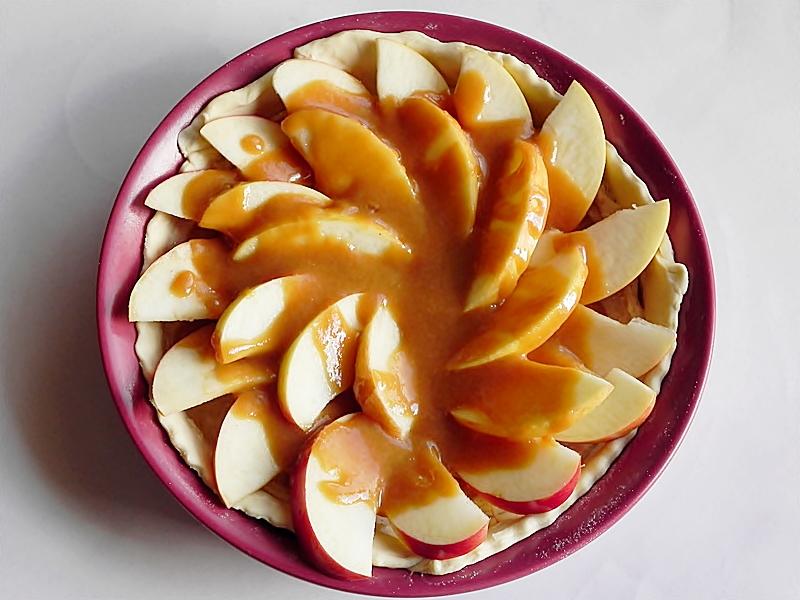 tarta cu mere si crema de branza