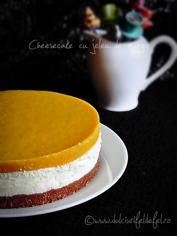 Cheesecake cu mango caramelizat