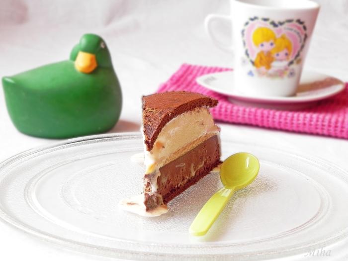 Tort de inghetata cu lapte si ciocolata