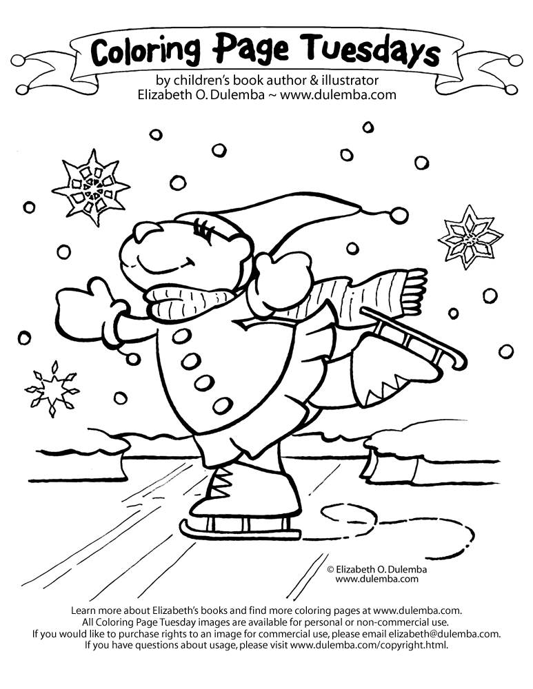 Nature Coloring Pages Winter Coloring Pages