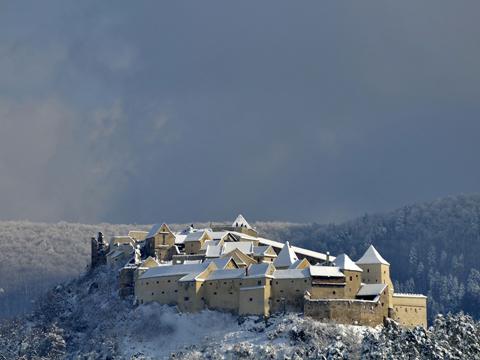 Lâu đài Rasnov ở Brasov, Romania