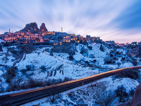 Lâu đài Uchisar ở Nevsehir, Thổ Nhĩ Kỳ