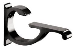 Black Designer Aluminum Shelf Brackets