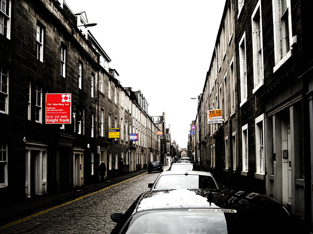 For sale signs on Edinburgh's Thistle Street - Ross G. Strachan