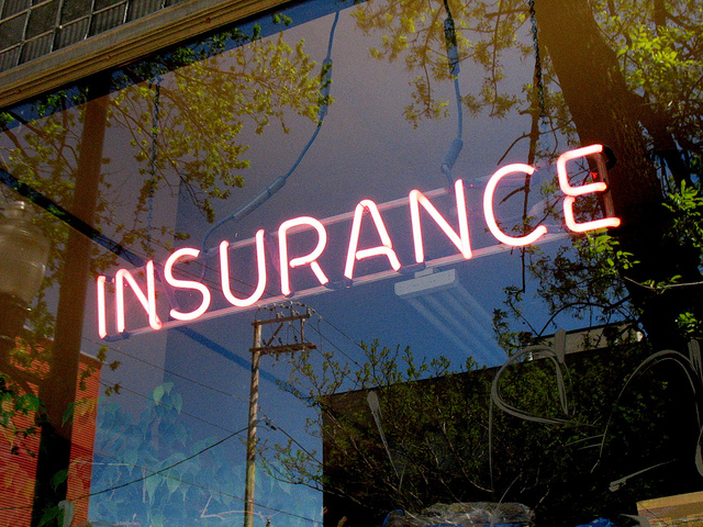 Neon Insurance Office Sign - By David Hilowitz