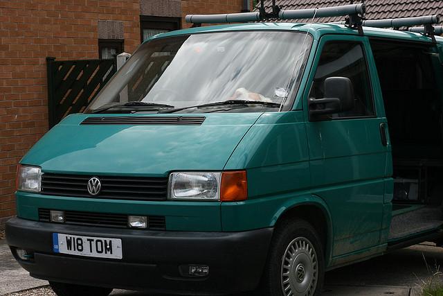 Work Mans Van - Green VW Van