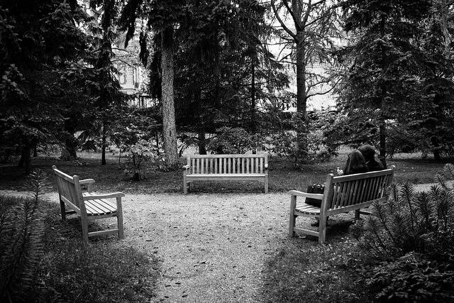 Couple on a bench - Hervé BRY