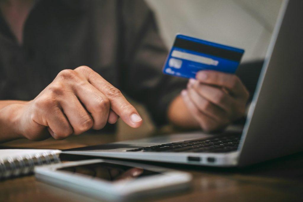 Laptop, Bank Card, Credit Card