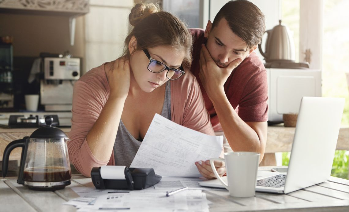 Couple Worrying About Debt