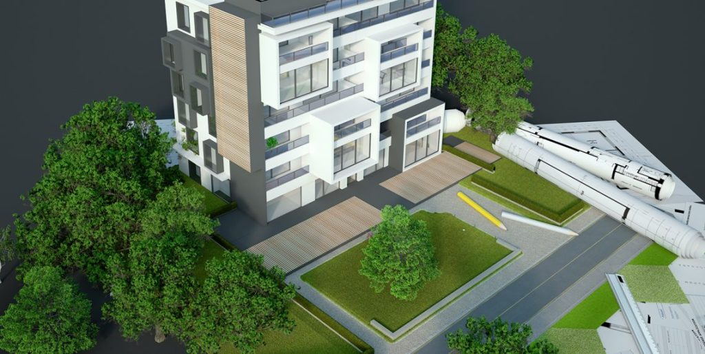 3D Building plans for new apartments