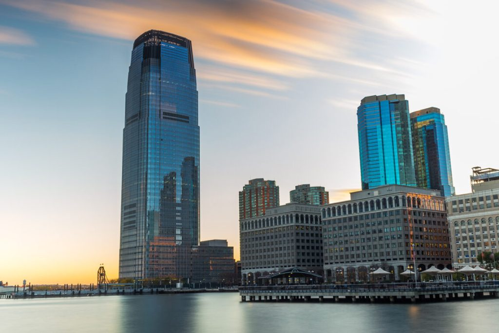 Goldman Sachs Tower, Jersey City in New Jersey.