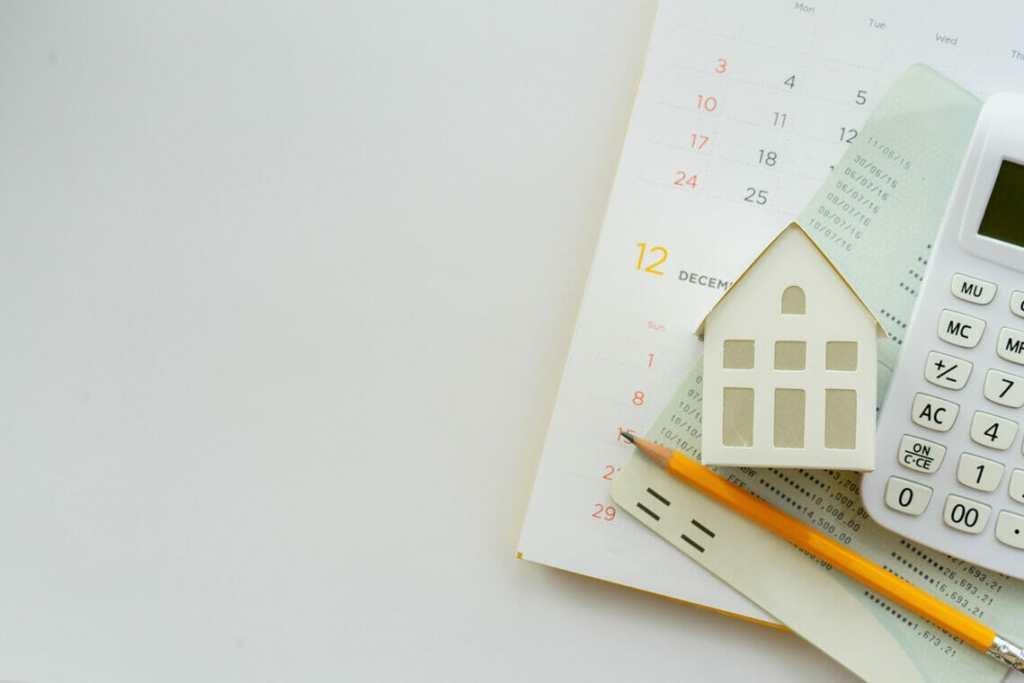 Calendar, calculator and model home