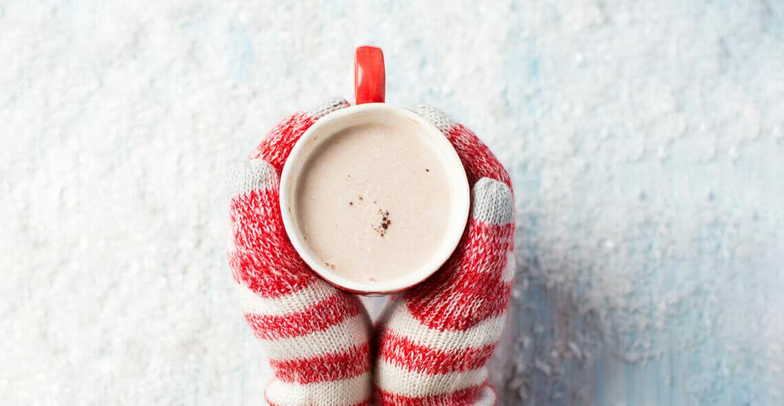 winter, snow, gloves, chotchocolate