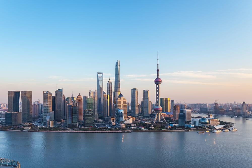 Dusk scene in Shanghai China