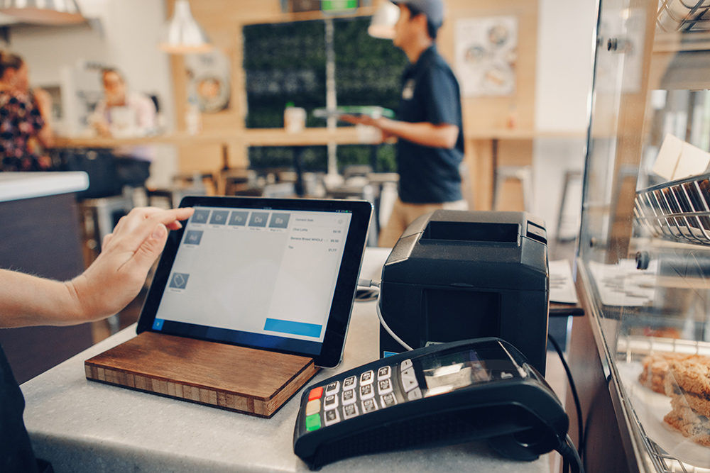Shop using touch pad technology