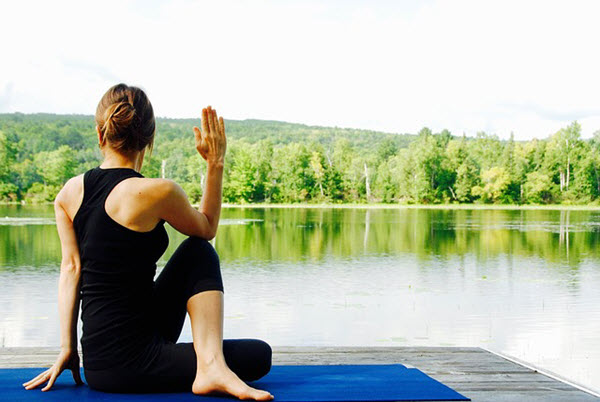 how to keep skin young looking thru yoga