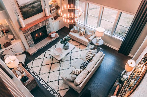 mid century modern interior design characteristic