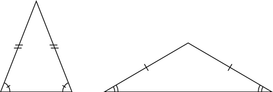 A triangle in which any two sides are equal is called an isosceles triangle. Identifying Scalene, Isosceles, and Equilateral Triangles ...