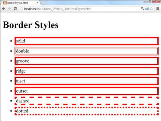 How to Add Borders in HTML5 and CSS3 Programming - dummies