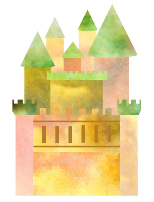 collaged castle -unfinished!