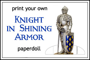 Print your own knight paperdoll