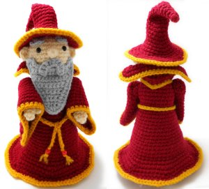 Red Wizard by Crafty Tibbles