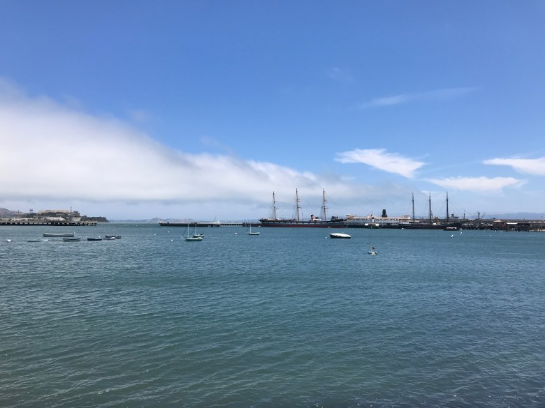 San Francisco Bay from the wharf