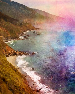 watercolor coastline