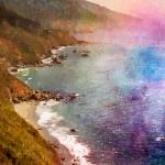 watercolor coastline