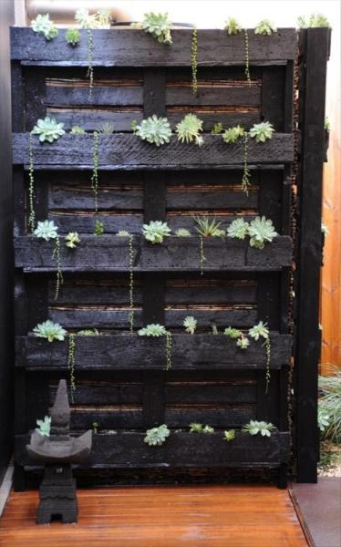 pallet vertical garden project 35 Amazing Uses For Old Pallets