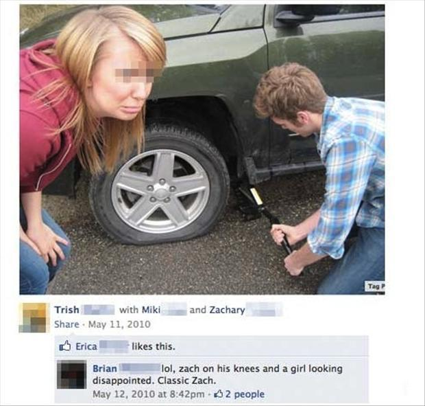 1 funny facebook pictures, man on his knees