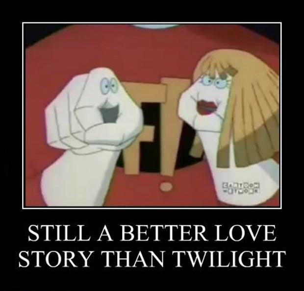hand puppets, a better love story than twilight