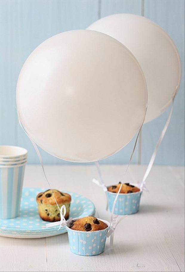 hot air balloon, muffin cooking ideas