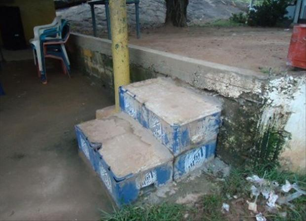 there i fixed it, concrete stairs