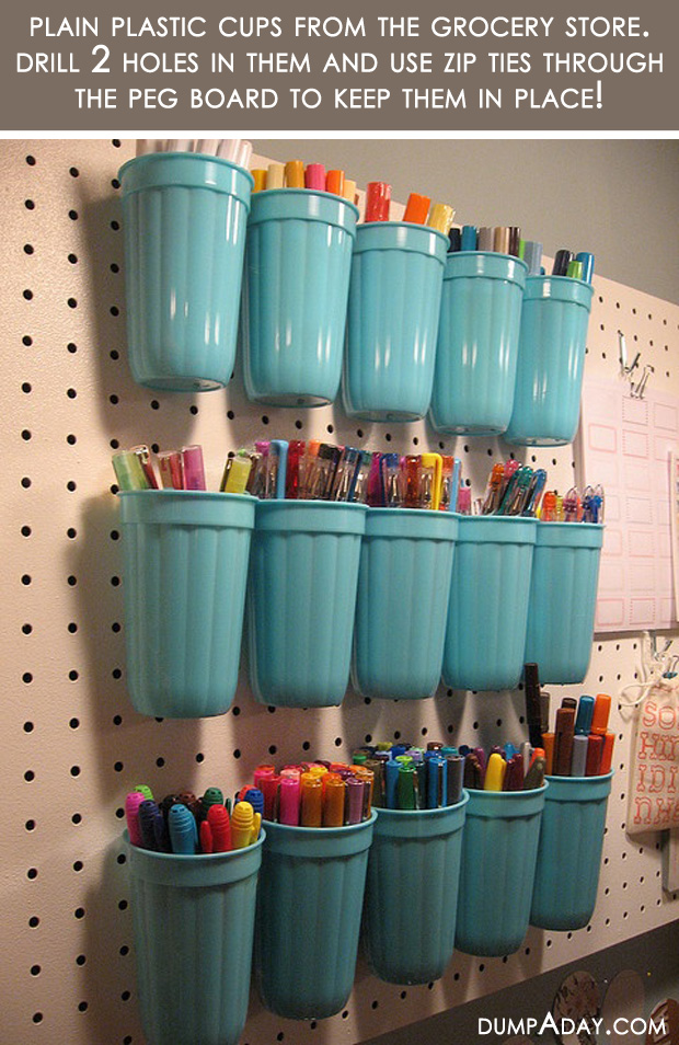 Amazing Easy DIY Home Decor Ideas  plastic cup organizer   Dump A Day Amazing Easy DIY Home Decor Ideas  plastic cup organizer