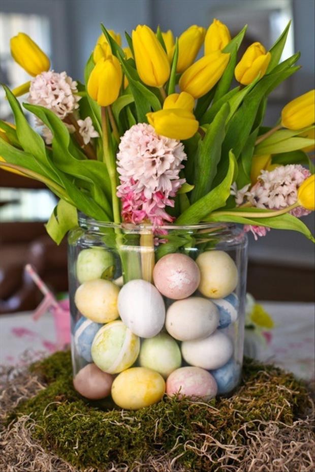 Easy Easter DIY Crafts Egg Center Piece Dump A Day
