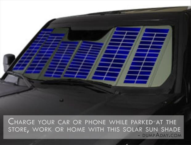 Genius Ideas- Solar Sun Shade