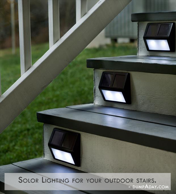 Genius Ideas- solor lighting for stairs