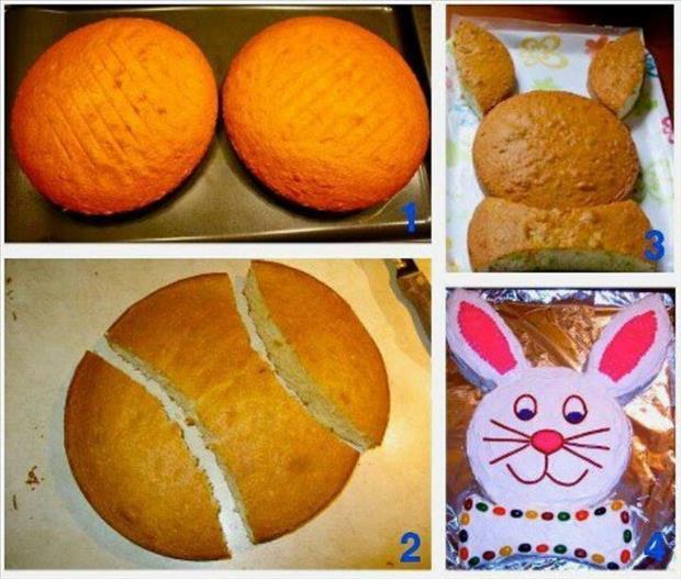 Bunny shaped cake