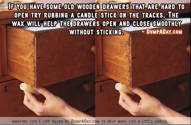 DumpADay Life Hacks- Old wooden drawers