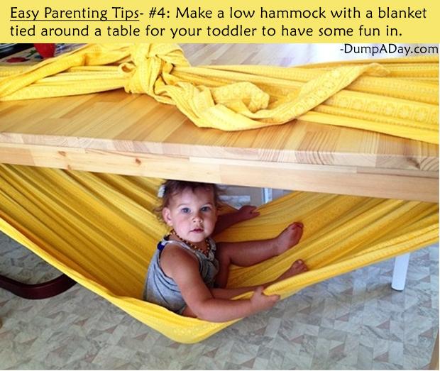Easy Parenting Tips 4- Hammock
