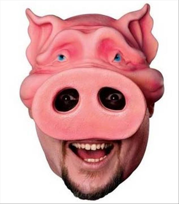 pig face costume