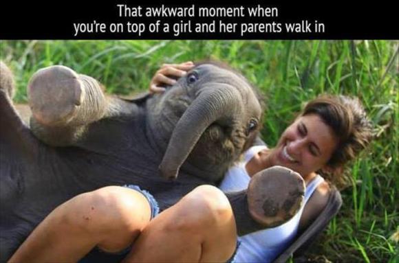 an awkward moment