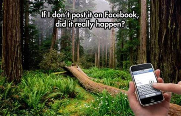 post it on facebook